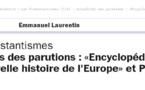 "Emission "" Les Protestantismes"" sur France Culture"